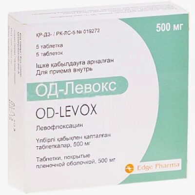 OD-LeVox 5's 500 mg film-coated tablets