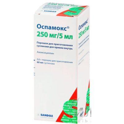 Ospamoks 250 mg / 5 ml 60 ml granules for oral suspension