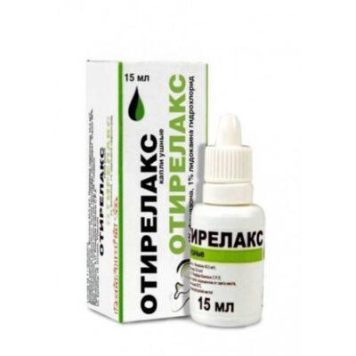 Otirelaks 45.52 mg / 11.38 mg / ml 15 ml ear drops