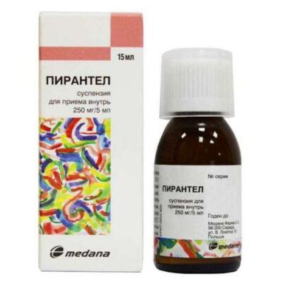 Pyrantel 250 mg / 5 ml 15 ml of oral suspension