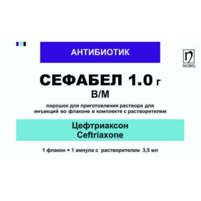Sefabel 1g of sol. 3.5 ml of a 1% solution of lidocaine powder for injection / m