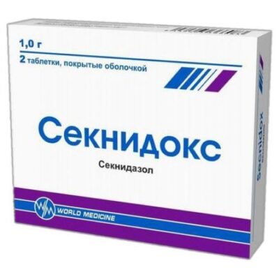Seknidoks 1g 2's coated tablets