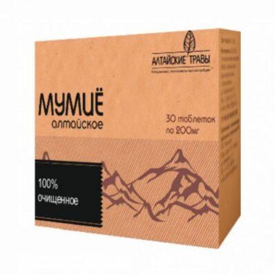 Shilajit Altai refined 200 mg (30 tablets) Altayskie grass