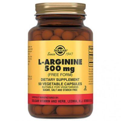 Solgar L-arginine 500 mg (50 capsules) (1404)
