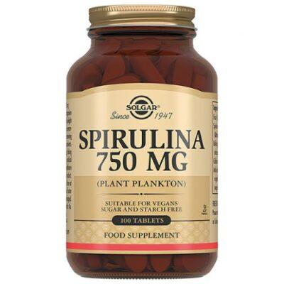 Solgar Spirulina 100s 750 mg tablets (26605)