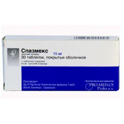 Spazmeks 30s 15 mg film-coated tablets