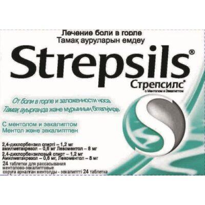 Strepsils Menthol and eucalyptus candies 24's