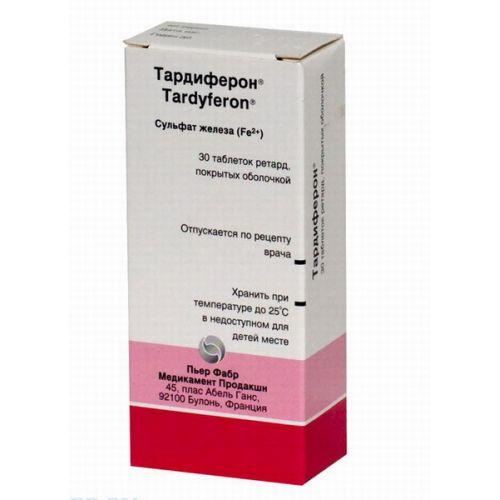 Tardiferon (30 coated tablets) retard