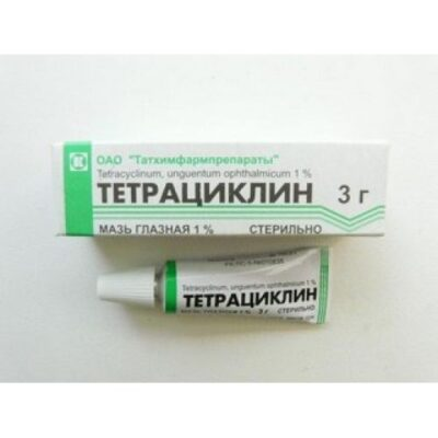 Tetracycline 1% 3g ophthalmic ointment.