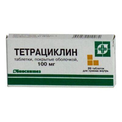 Tetracycline 100 mg coated (20 tablets)