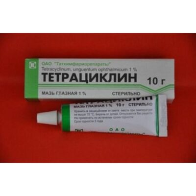 Tetracycline 10g 1% ophthalmic ointment.