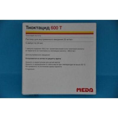 Thioctacid (Thioctic Acid) 600 mg/24ml (5 vials)
