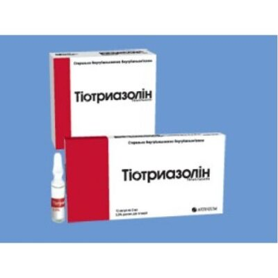 Thiotriazoline 2.5% / 2 ml 10s solution for intramuscular and intravenous administration