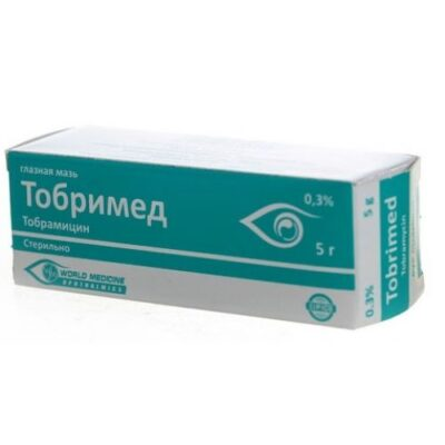 Tobrimed 0.3g of 5% ophthalmic ointment.