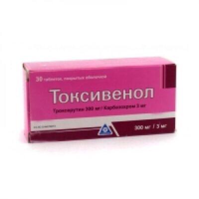 Toksivenol 300 mg / 3 30s mg coated tablets