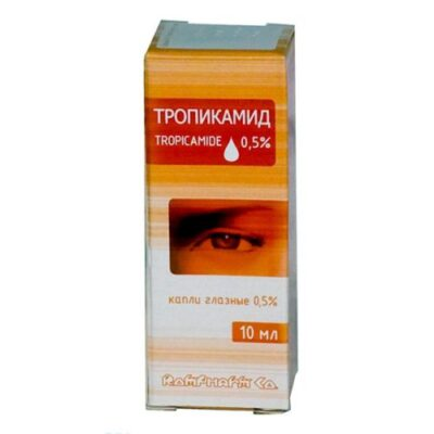 Tropicamide 0.5% / 10 ml of eye drops