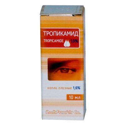 Tropicamide 1% / 10 ml of eye drops