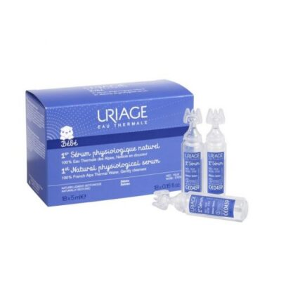 Uriage Izofi Natural thermal water for daily cleansing of the nose and the eye for children 5 ml 18's (0546)