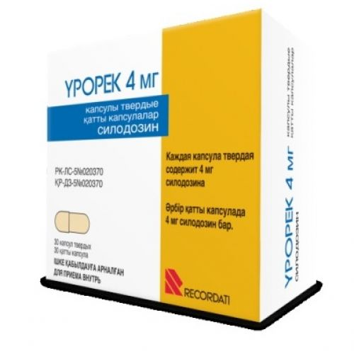 Urorek 4 mg capsules solid 30s