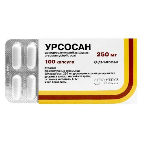 Ursosan 100s 250 mg capsule