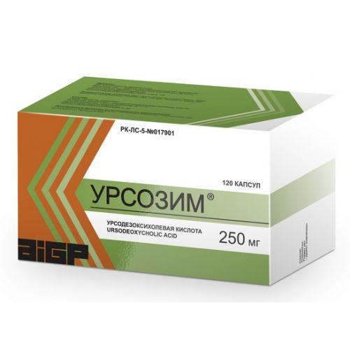 Ursozim 120s 250 mg capsule