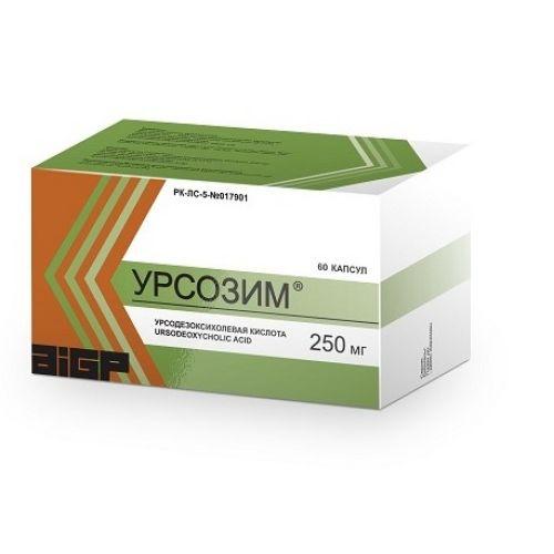 Ursozim 60s 250 mg capsule