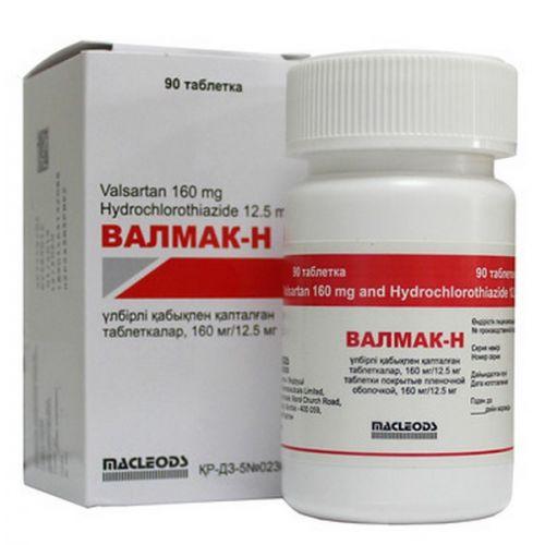Valmak-N 160 mg / 12.5 mg (90 film-coated tablets)