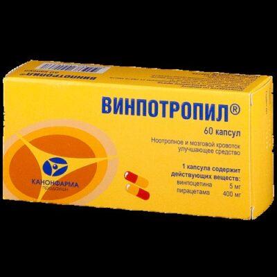 Vinpotropil (Vinpocetine + Piracetam) (60 capsules)