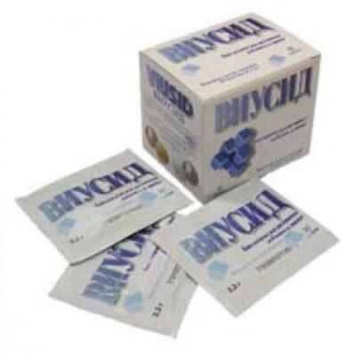 Viusid 1's 4.5g powder for oral solution pack.