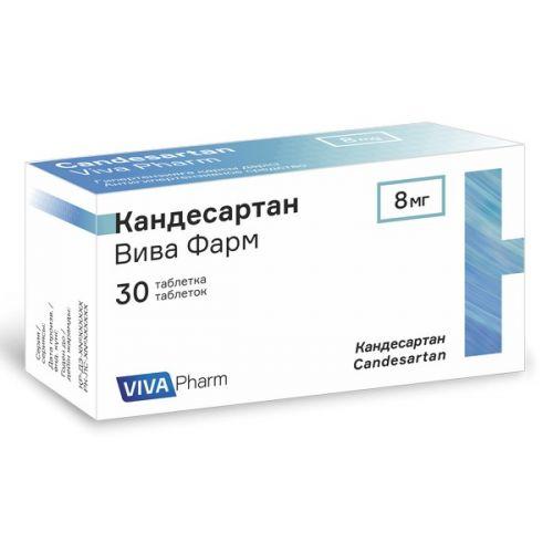Viva Pharm Candesartan 8 mg (30 tablets)