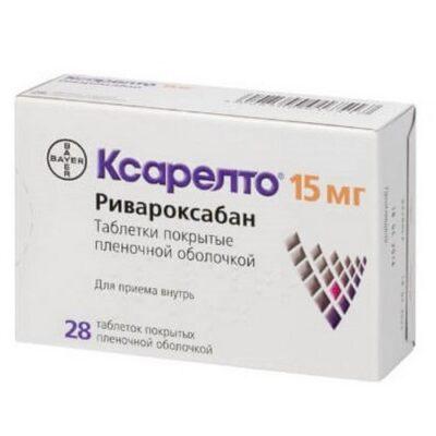 Xarelto ® 28's 15 mg film-coated tablets