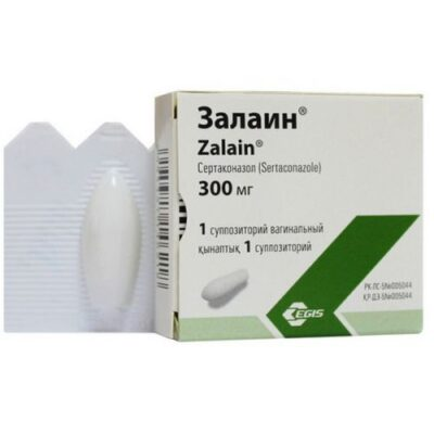 Zalain 300 mg vaginal suppositories are 1's