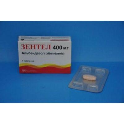 Zentel 1's 400 mg coated tablets