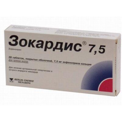 Zokardis® 28's 7.5 mg coated tablets