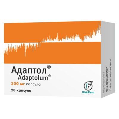 Adaptol® (Mebicarum, Adaptolum) 300 mg, 20 capsules